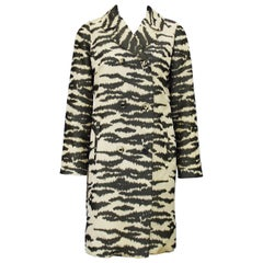 Late 1960's Lawrence of London Zebra Printed Trench Coat