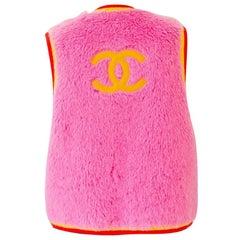 Chanel 90s Vintage Pink Alpaca Vest