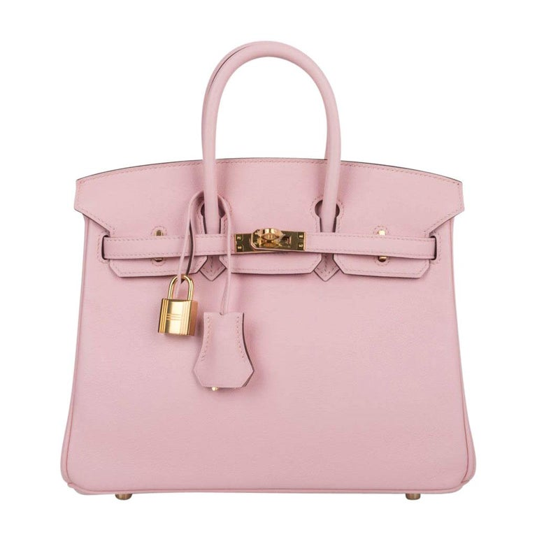 f89496be250 Hermes Birkin 25 Bag Rose Sakura Swift Gold Hardware Rare For Sale ...