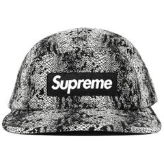 Supreme Black/White Snake Print Camp Cap Baseball Hat
