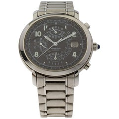 Audemars Piguet Black Stainless Steel Millenary Chronograph Men's Wristwatch 40M