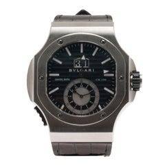 Bvlgari Black Stainless Steel Daniel Roth Men's Wristwatch 50MM