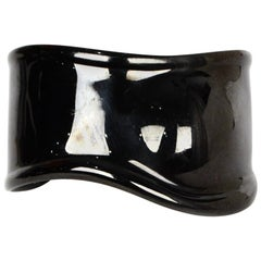 Tiffany & Co Elsa Peretti Left Wrist Black Bone Cuff Bracelet