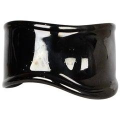 Tiffany & Co Elsa Peretti Left Wrist Black Bone Cuff Bracelet