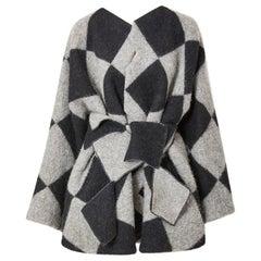 Geoffrey Beene Harlequin Pattern Jacket