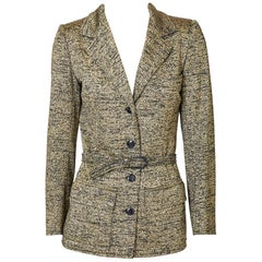 Yves Saint Laurent Belted Lurex Blazer