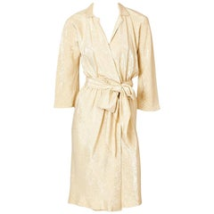 Halston Gold Lamé Wrap Dress