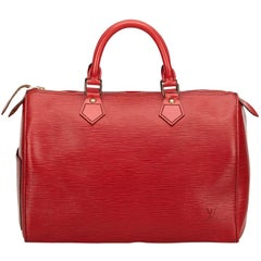 Louis Vuitton Red Epi Speedy 30