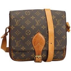 Louis Vuitton Brown Monogram Cartouchiere MM