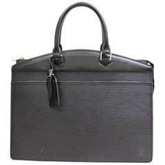 Louis Vuitton Riviera 867407 Black Leather Satchel