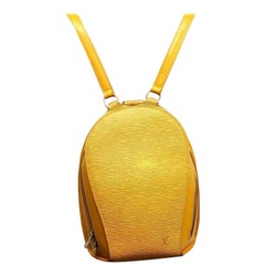 Louis Vuitton Mabillon 867365 Yellow Coated Canvas Backpack