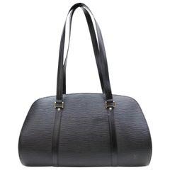 Louis Vuitton Epi Noir Solferino Gm 867425 Black Leather Weekend/Travel Bag