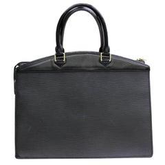 Louis Vuitton Riviera Epi Noir 867433 Black Leather Satchel