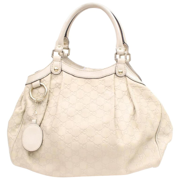 52b36ebfbfd7 Gucci Sukey Guccissima 867656 Ivory Leather Tote For Sale at 1stdibs