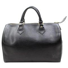 Louis Vuitton Speedy Epi Noir 30 867755 Black Leather Satchel