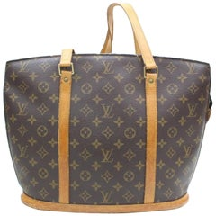 Louis Vuitton Babylone Monogram Zip 869680 Brown Coated Canvas Tote