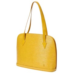 Louis Vuitton Lussac Tassil Zip Tote 869647 Yellow Leather Shoulder Bag