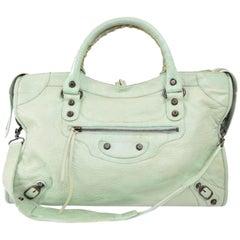 Balenciaga Mint City 2way 869570 Green Leather Shoulder Bag