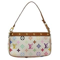 Louis Vuitton Pochette Accessoires White Multicolormonogram Blanc 869579 Multico