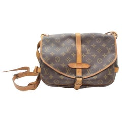 Louis Vuitton Saumur Monogram 30 Pm Saddle 869381 Brown Coated Canvas Cross Body