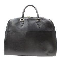 Louis Vuitton Sorbonne Noir Dome Satchel 869378 Black Leather Weekend/Travel Bag