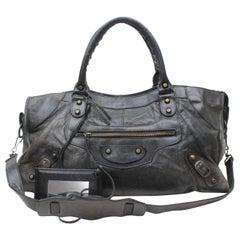 Balenciaga City 2way 869255 Black Leather Shoulder Bag