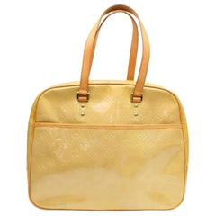 Louis Vuitton Monogram Vernis 869227 Yellow Patent Leather Shoulder Bag