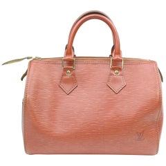 Louis Vuitton Speedy 25 868886 Brown Leather Satchel
