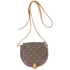 Louis Vuitton Monogram Sac Tambourin 868697 Brown Coated Canvas Cross Body Bag