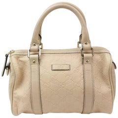 Gucci Boston Guccissima Small Joy 868422 Beige Leather Satchel