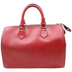 Louis Vuitton Speedy Epi 25 868169 Red Leather Satchel