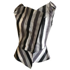 Vivienne Westwood Anglomania Gray Stripe Top
