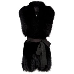 Verheyen London Legacy Black Fox Fur Stole - Worn in 3 ways - New