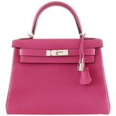 Hermès Fuchsia Togo 28 cm Kelly Bag