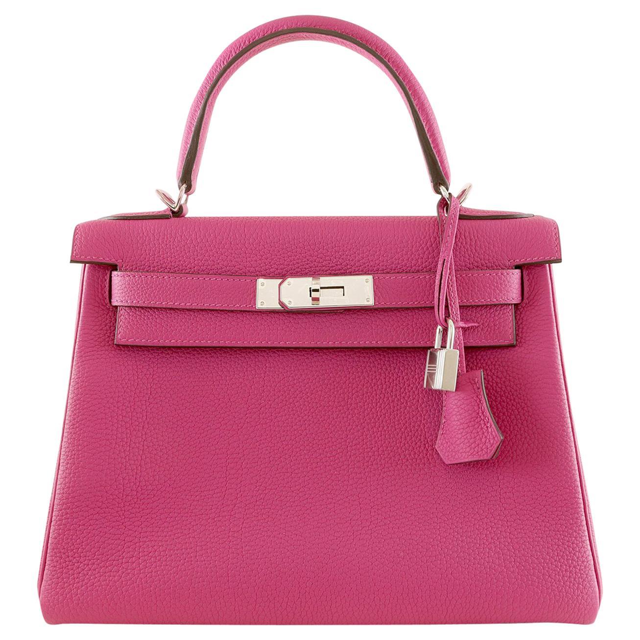 23c9fb92b26f Pink Hermes Bags - 125 For Sale on 1stdibs