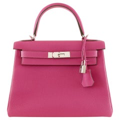Hermès Magnolia Togo 28 cm Kelly Bag