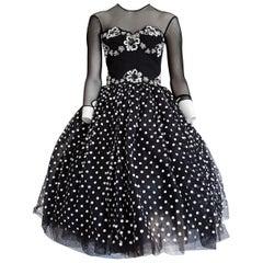 "Isabelle ALLARD Paris ""New"" Couture Plumetis Polka dots Cotton Dress - Unworn"