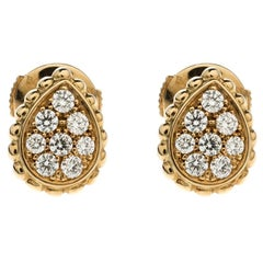 Boucheron Diamond Gold Serpent Boheme Earrings
