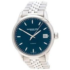 Raymond Weil Blue Stainless Steel Freelancer 2740ST50021 Men's Wristwatch 42 mm