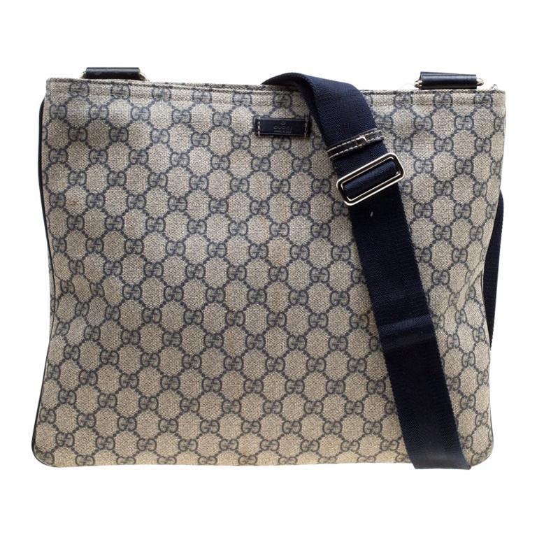202d31f8 Gucci Beige/Blue GG Supreme Canvas Messenger Bag