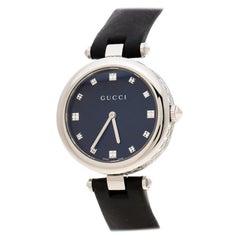 Gucci Black Stainless Steel Diamantissima 141.4 Women's Wristwatch 32 mm