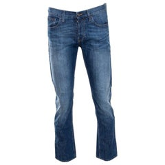 Gucci Indigo Faded Effect Regular Fit Denim Jeans S