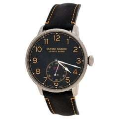 Ulysse Nardin Black Stainless Steel Marine Torpilleur Chronometer Men's Wristwat