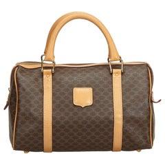 Celine Brown Macadam Boston Bag