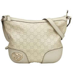 Gucci Brown Guccissima Lovely Crossbody Bag