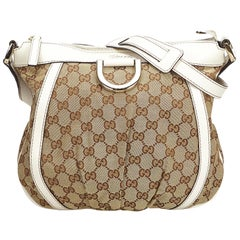 Gucci Brown GG Jacquard D-Ring Crossbody Bag