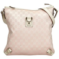 Gucci Pink GG Jacquard Abbey Crossbody Bag