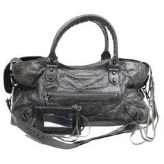Dark The City 2way 867820 Blue Leather Shoulder Bag