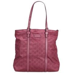 Gucci Pink GG Nylon Tote Bag
