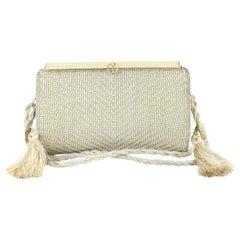 Gucci ( Rare ) Metallic Woven 2way 222598 Gold Shoulder Bag